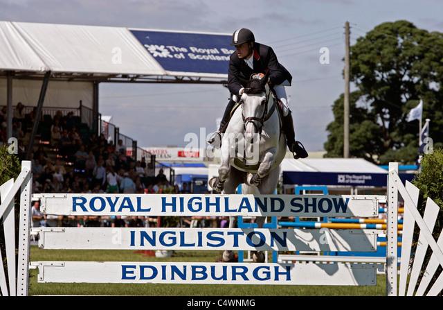 Show jumping at the Royal Highland Show, Ingliston, Edinburgh - Stock Image