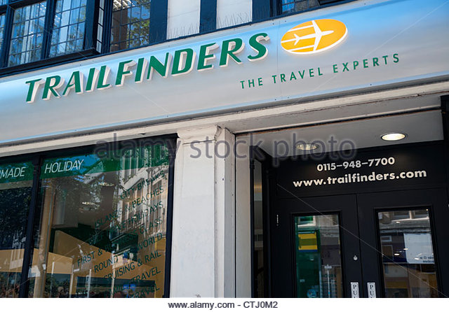 Trailfinders travel agents in Nottingham, UK. - Stock-Bilder
