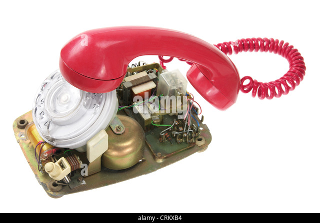 Broken Dial Phone - Stock Image