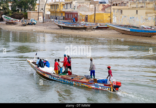 Senegal River, City of Saint Louis, UNESCO World Heritage Site, Senegal, West Africa, Africa - Stock Image