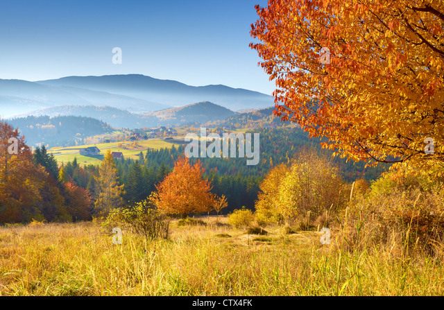 The Zywiec Beskids, Poland - Stock Image