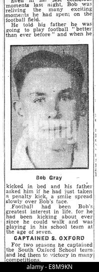 Memory Lane 20.10.2014 mailbag Bob Gray - Stock Image