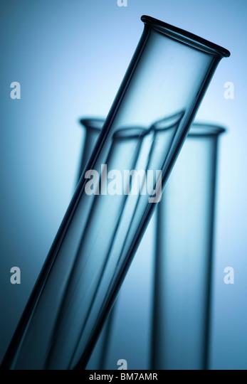 three laboratory test tube tops - Stock Image