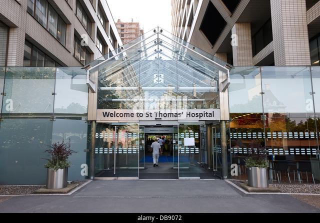St Thomas hospital London England UK - Stock Image