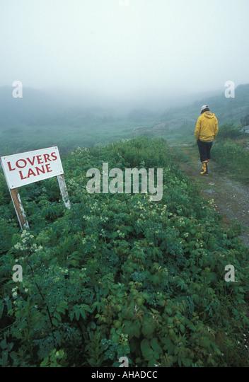Lovers Lane - Stock Image