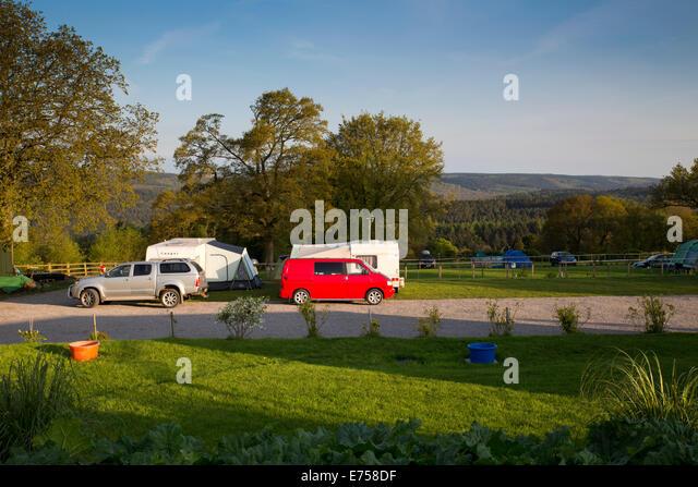 Deanwood Holidays Campsite; Forest of Dean; Gloucestershire; UK - Stock-Bilder