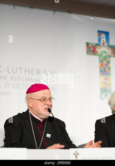 Pope Francis announced on May 21th, 2017, that Bishop Anders Arborelius, Sweden would become one of five new cardinals - Stock Image