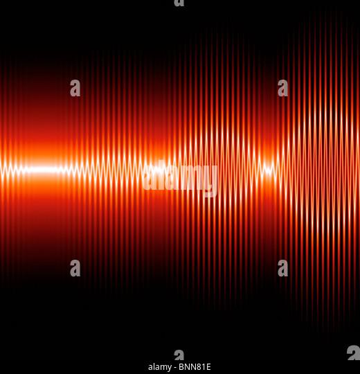 Sound waves, artwork - Stock-Bilder