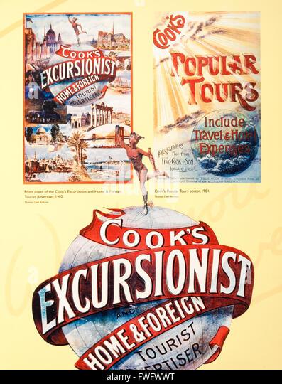 Vintage Cook`s Tours (Thomas Cook) travel poster. Travel/adventure/concept - Stock-Bilder
