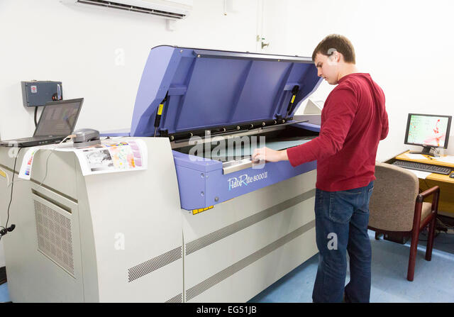 setting up machine