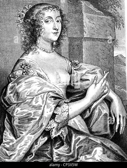 Hay, Lucy, Countess of Carlisle, 1599 - 5.11.1660, English court lady, portrait, copper engraving, circa 1710, after - Stock Image
