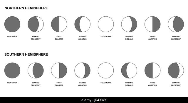 phases of the moon illustration stock photos  u0026 phases of