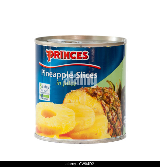 Small Tin Of Pineapple Rings
