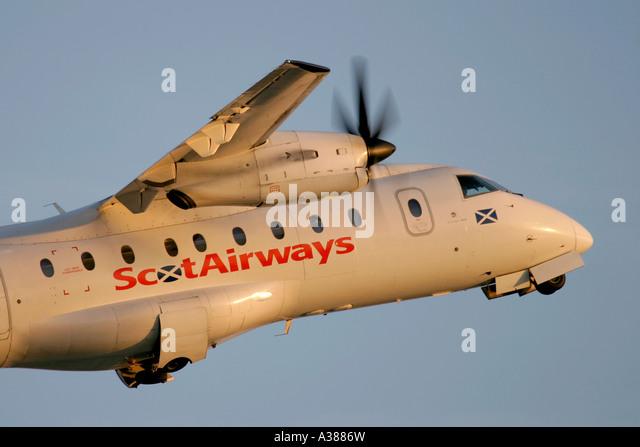 ScotAirways Dornier Do 328 110 - Stock Image