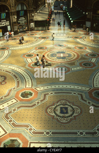 Galleria  Vittorio Emanuele Milano is the oldest shopping mall in Italy - Stock Image