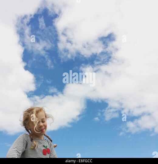 Portrait of girl outdoors - Stock Image