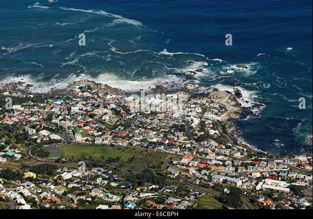 Sea Point from Table Mountain (aerial view), Cape Town, Western Cape Province, South Africa - Stock Image