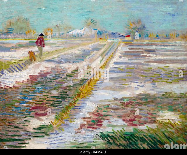 Landscape with Snow, by Vincent van Gogh, 1888, Solomon R. Guggenheim Museum, Manhattan, New York City, USA, North - Stock Image