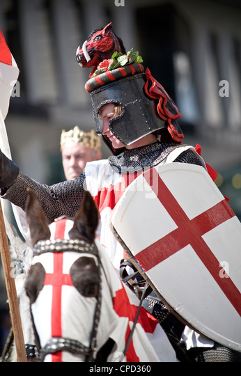 St. George's Day Celebrations in 2010, London, England, United Kingdom, Europe - Stock Image