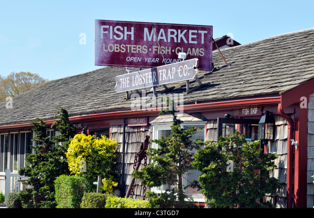 Fishmarket restaurant stock photos fishmarket restaurant for Cape cod fish market