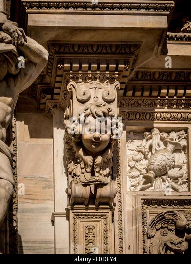 Exterior Milan Cathedral - Stock Image