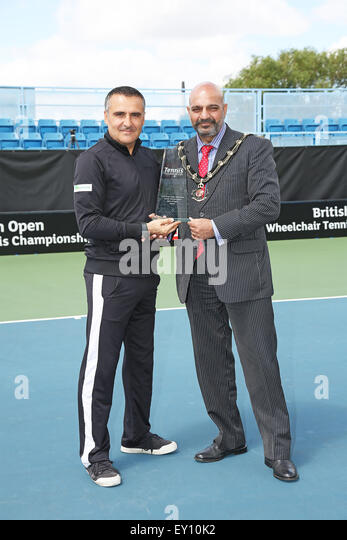 Tennis Centre, Nottingham, UK. 19th July, 2015. British Open Wheelchair Tennis Championships. Mens Open Singles - Stock Image