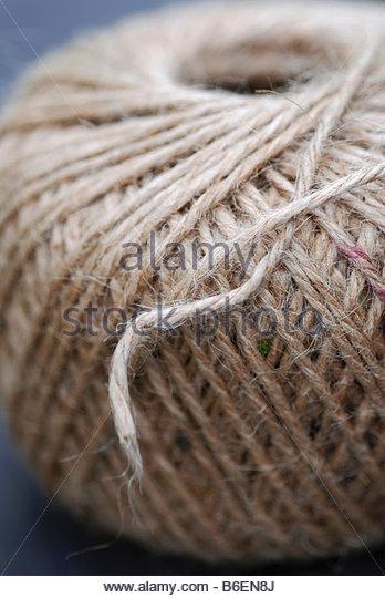Brown string - Stock Image