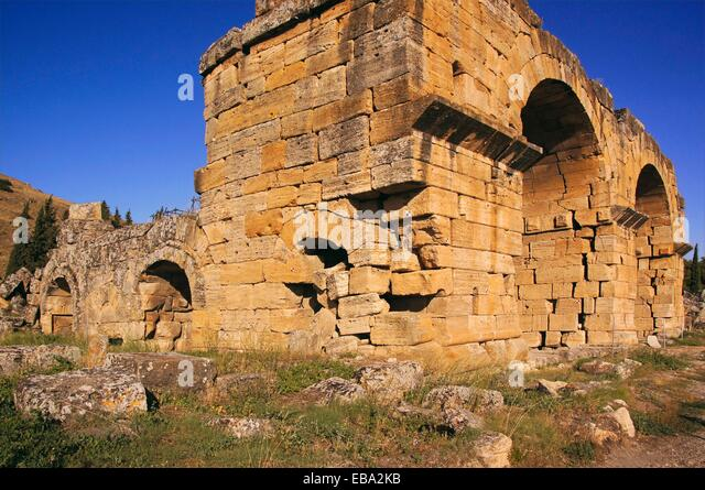 2nd century adjacent Anatolia ancient antiquity archaeology architecture Asia basilica bce Christian city color - Stock Image