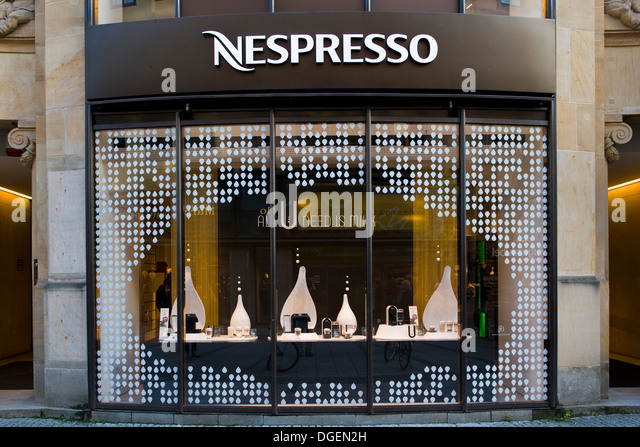 nespresso shop stock photos nespresso shop stock images alamy. Black Bedroom Furniture Sets. Home Design Ideas