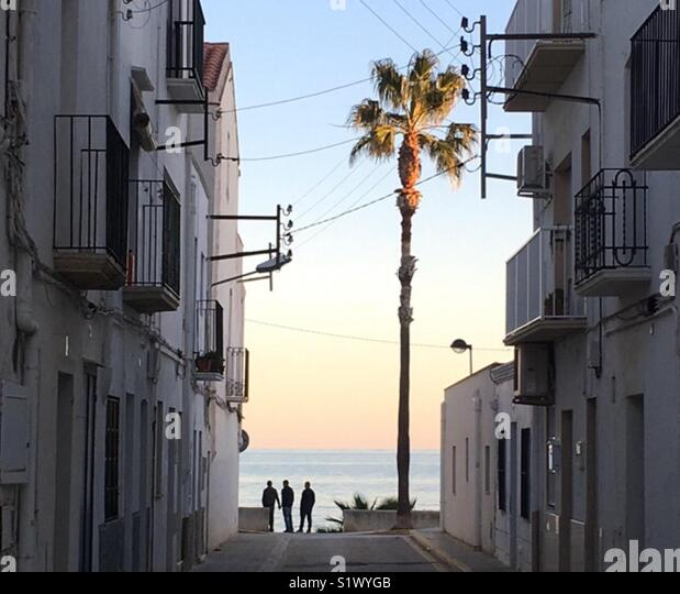 Mediterranean sunset - Stock Image