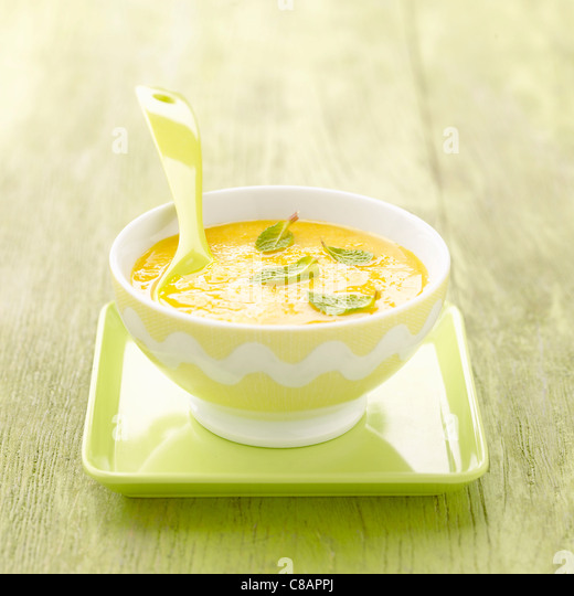 Melon and mint Gaspacho - Stock Image