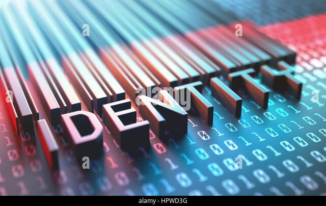 Identity barcode, illustration. - Stock-Bilder