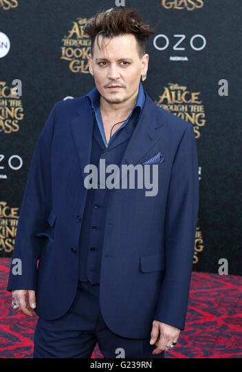 Los Angeles, California, USA. 23rd May, 2016. Johnny Depp at the Los Angeles premiere of 'Alice Through The - Stock Image