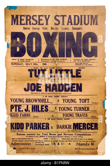 old boxing poster - Stock Image
