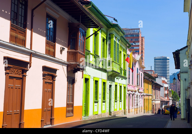 Colourful houses, Bogota, Colombia, South America - Stock Image