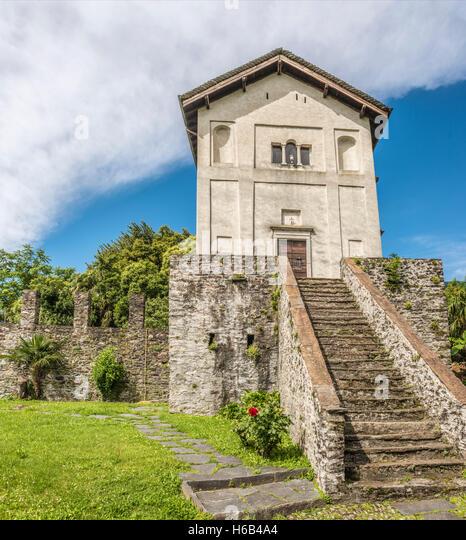 Church San Michele in Ascona, Ticino, Switzerland   Kirche San Michele, Ascona, Tessin, Schweiz - Stock-Bilder