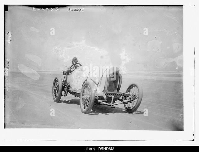 [Race car driver Bob Burman and his 'Blitzen Benz'] (LOC) - Stock Image