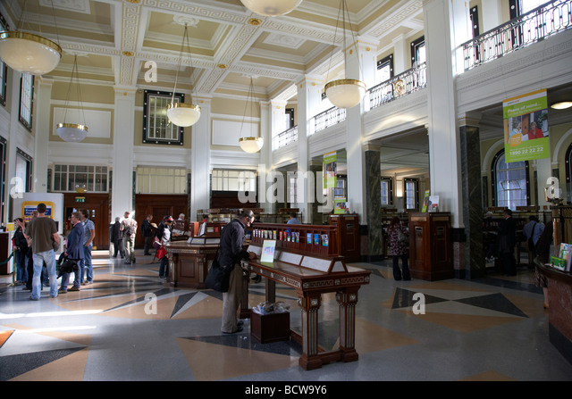 Interior of the general post office GPO on oconnell street in dublin city centre republic of Ireland - Stock Image