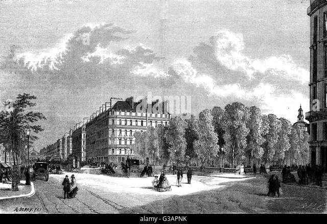 Paris, France - Square des Arts et Metiers.     Date: 1861 - Stock-Bilder