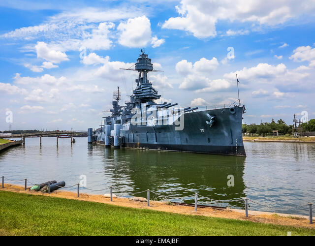 The Famous Dreadnought Battleship Texas - Stock Image