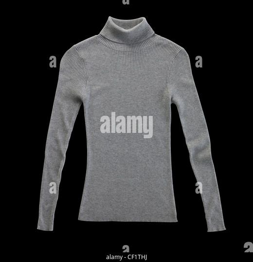 A still life shot of a a grey or gray or turquoise ladies blouse - Stock Image