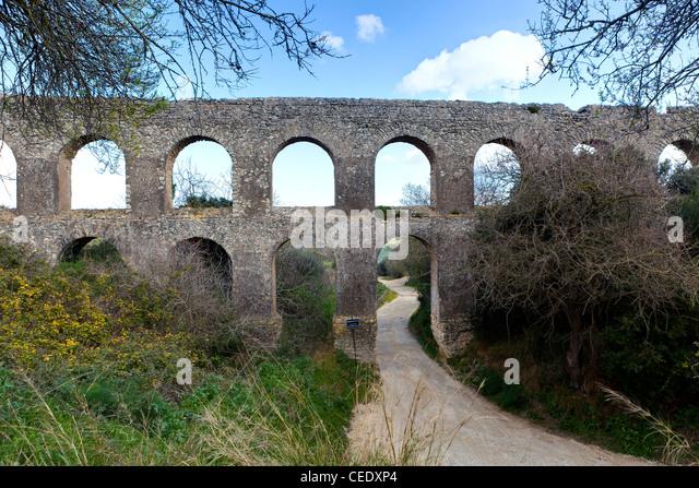 Roman aqueduct - Stock Image