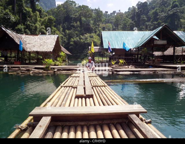 Bamboo Raft Thailand Stock Photos & Bamboo Raft Thailand ...