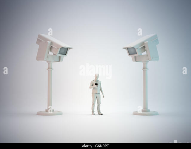 Communications surveillance - 3D illustration - Stock-Bilder