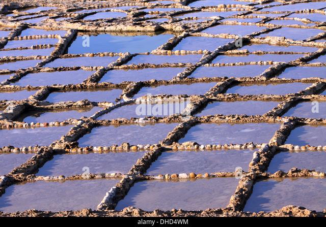 Salt works in the rocks - Stock-Bilder