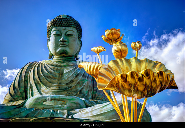 Great Buddha of Hyogo in Kobe, Japan. - Stock Image