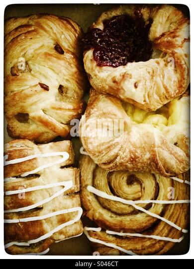 Danish pastries - Stock Image