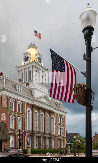 Indiana, Pennsylvania - The old Indiana County Courthouse. - Stock Image