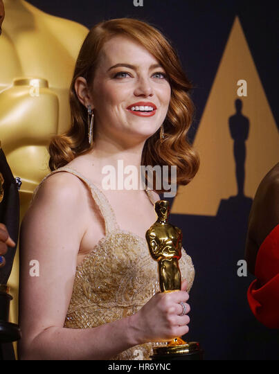 Emma Stone 304  89th Academy Awards ( Oscars ), press room at the Dolby Theatre in Los Angeles. February 26, 2017. - Stock Image