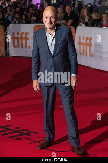 Actor Patrick Stewart attends the world premiere for The Martian at the Toronto International Film Festival at the - Stock Image